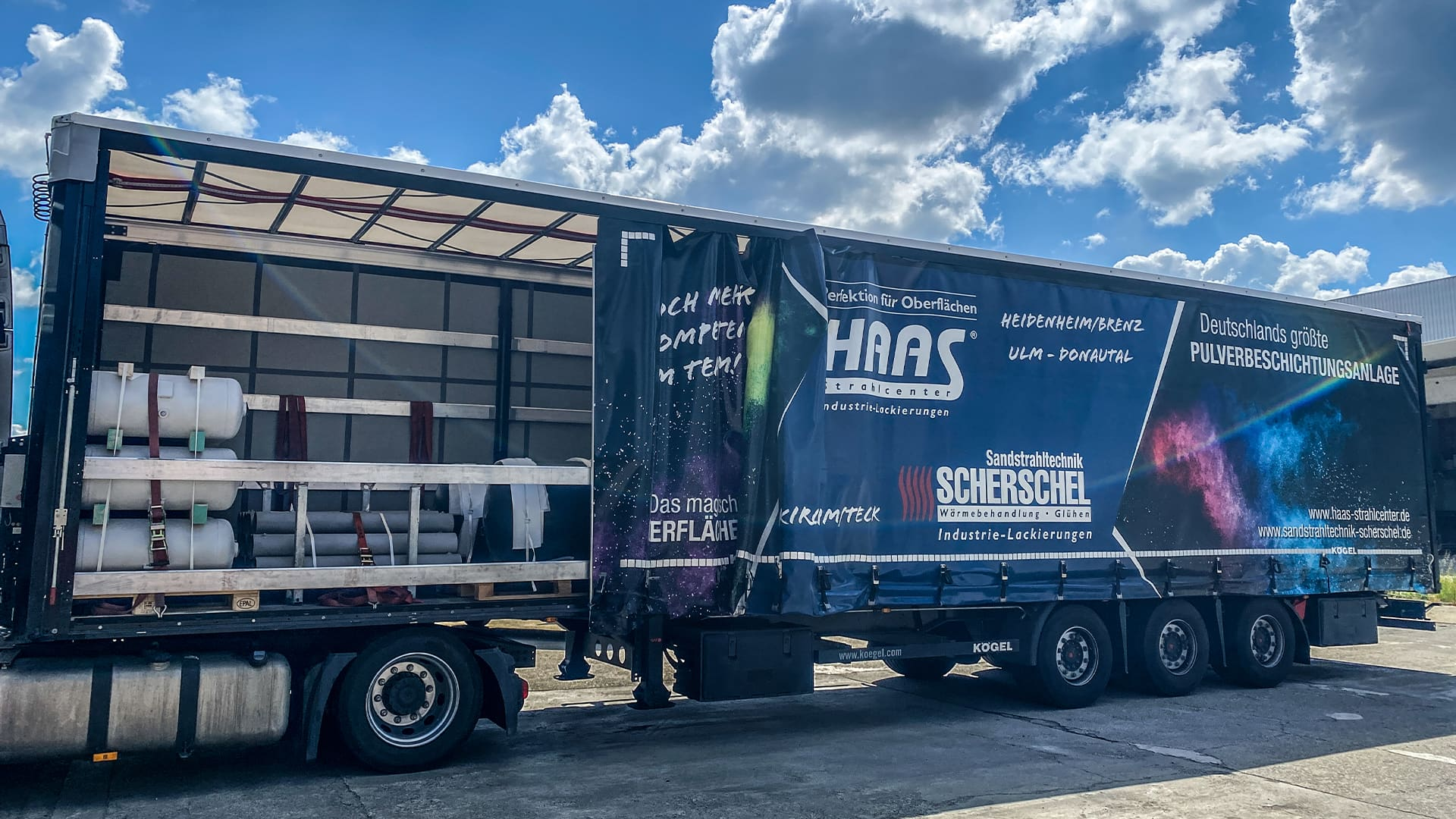 Transport, Logistik, Lager – Haas Strahlcenter